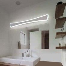 Lámparas de pared Led nórdicas modernas candelabro luminaria cocina baño espejo luces Led para decoración del hogar accesorio blanco hierro acrílico avize