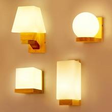 Applique nordique appliques bois Led Wandlamp lampe en verre luminaria moderne Loft décor chambre couloir luminaires AC90-260V