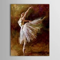 unframed oil painting handmade hand painted modern abstract beautiful sexy ballerina girl dance canvas painting canvas