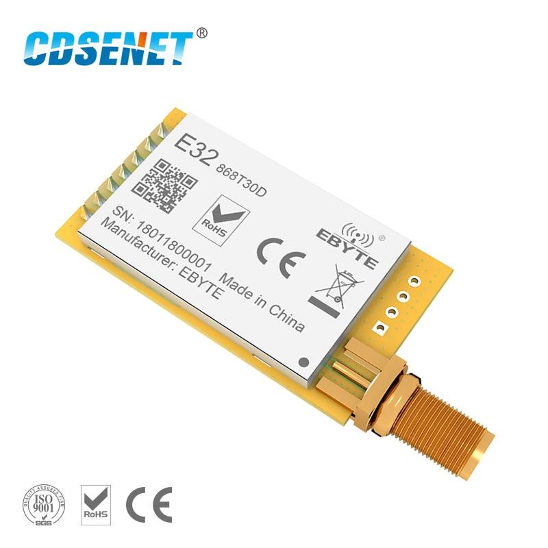 2pc lora 868 mhz sx1276 sx1278 transmissor e receptor rf módulo cdsenet E32-868T30D de longa distância 1 w uart transceptor rf módulo
