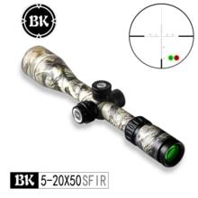 Bobcat roi optique BK 5-20X50 SFIR camouflage apparence tactique optique vue sniper chasse fusil visant fusil à air comprimé lunette de visée