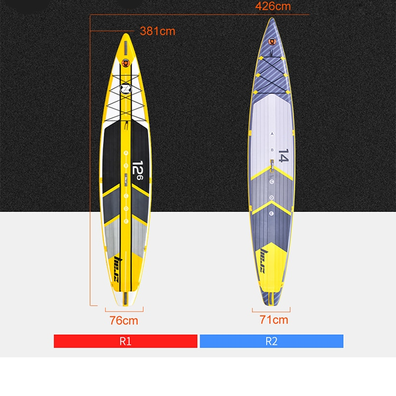 Large tail SUP paddle board surfboard adult professional water skiing board racing board inflatable surfboard