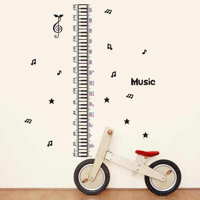 Große größe 66*156 cm musik höhe messen wachstum chart wand aufkleber für kinderzimmer kindergarten wohnzimmer pvc vinyl home decor