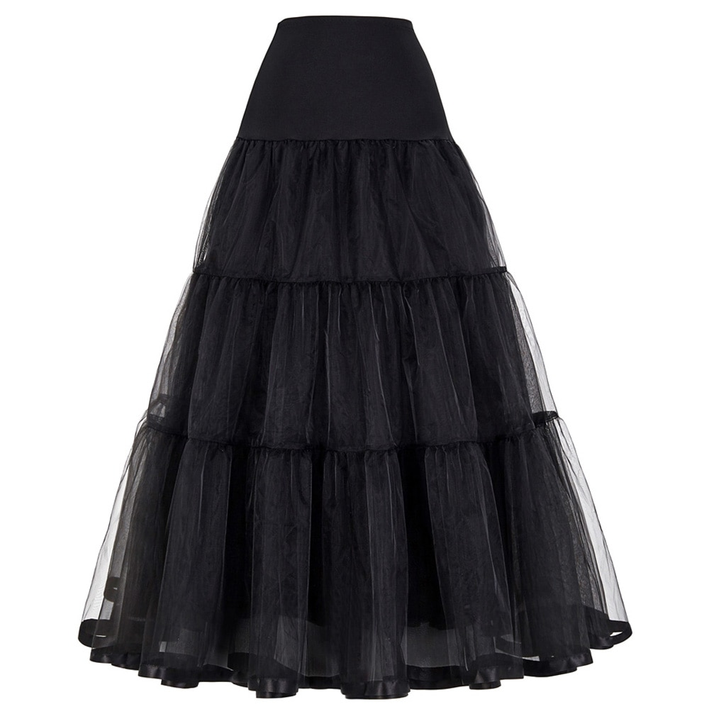 Long Petticoat Ruffled Crinoline Vintage Wedding Bridal Petticoat for Wedding Dresses Underskirt Rockabilly Tutu