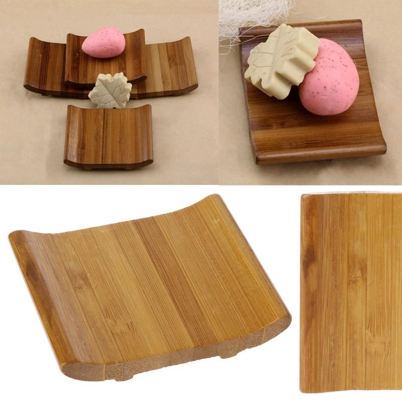 Jabonera de bambú Natural plato de baño plato de ducha soporte caja de almacenamiento