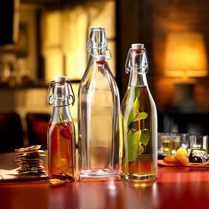 1 botella para vinagre y aceite, aceite, salsa de soja y vinagrera de vinagre, botella de vidrio sellada a prueba de fugas, castañas JR 1087
