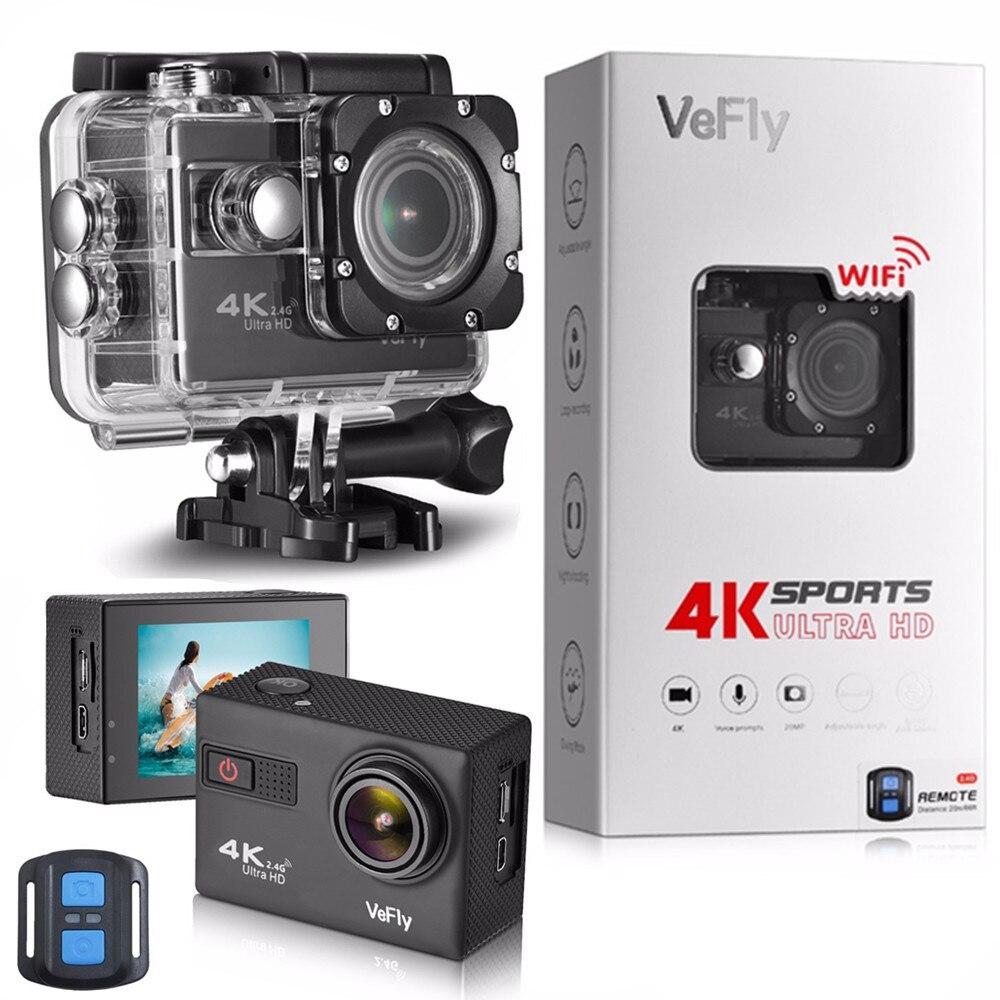 Спортивная экшн-камера VeFly 4K Ultra HD водонепроницаемая камера