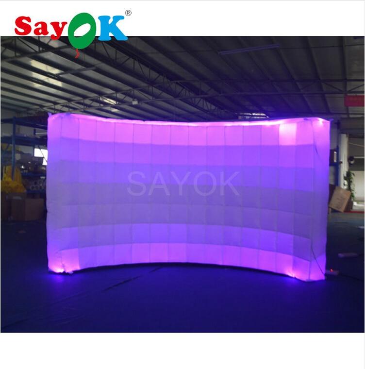 Pared inflable Sayok, cabina de fotos del centro comercial con luz LED para publicidad/fiesta/decoración del evento