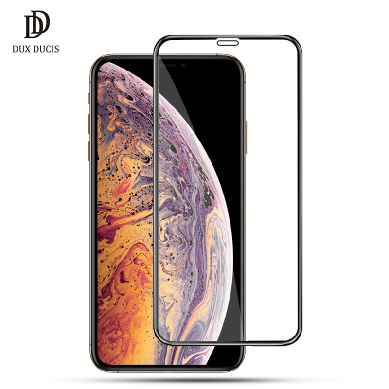 DUX DUCIS 9H vidrio templado para iPhone Xs Max cubierta completa vidrio Protector para iPhone Xs Max X S XR 2018 película protectora de pantalla