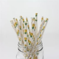 wedding table decorations paper straws watermelon pineapple strawberry fruit design straws for bachelorette party garden party