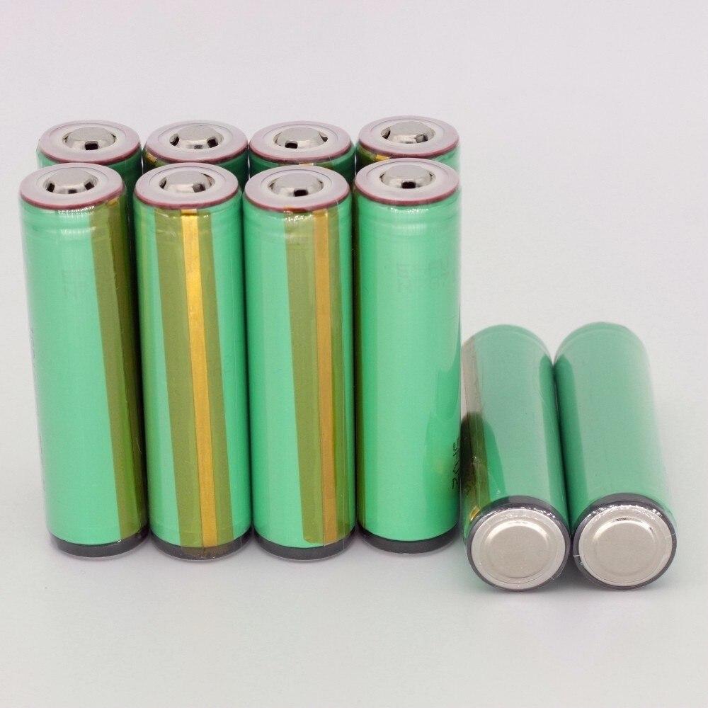 Кнопка Топ 100 шт Защищенный 18650 ICR18650-22F 2200mah литий-ионный 3,7 v аккумулятор для samsung аккумуляторные фонарики