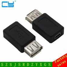 10 шт./лот USB 2,0 A Тип «мама» к Мини usb 5pin «мама» адаптер от A до mini B