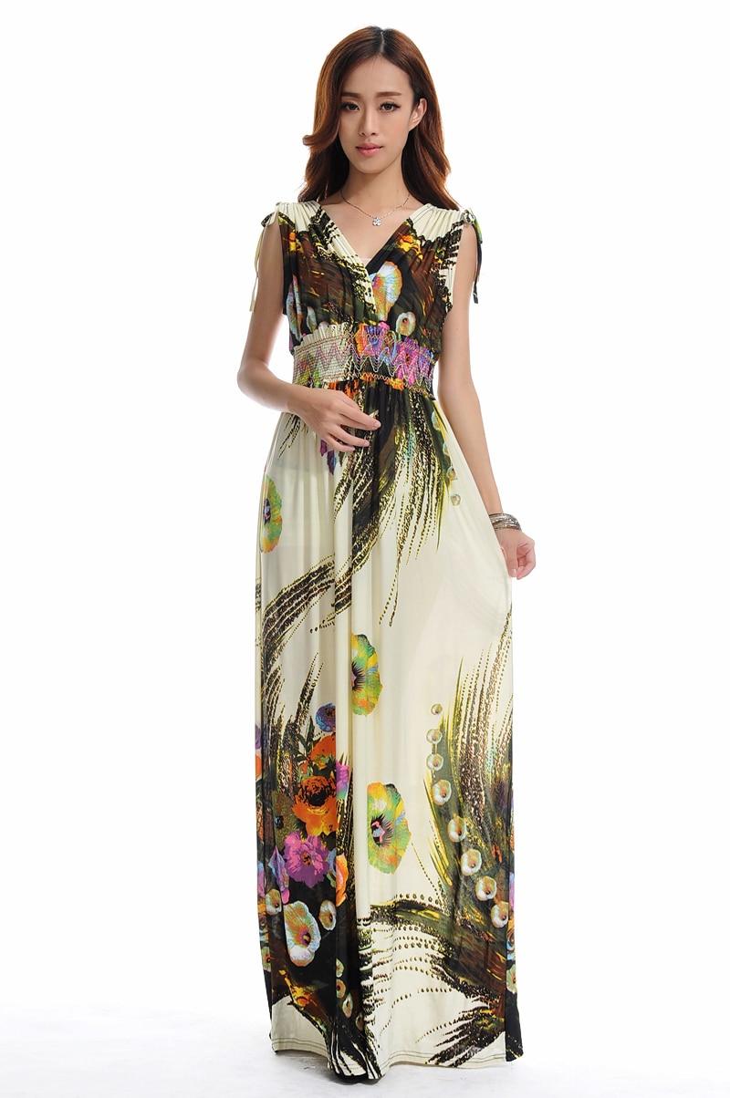 Летнее платье пляжное платье длинное богемное платье большого размера 6XL Jupe Atacado Robe Longue Roupas femininas Длинное Платье Макси
