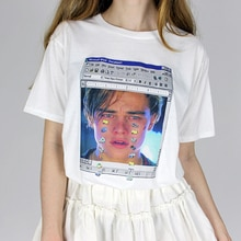 Hot Tumblr Ulzzang  Summer women T-shirt Leonardo di caprio Leo Titanik crying harajuku casual Solid vintage Women plus size top