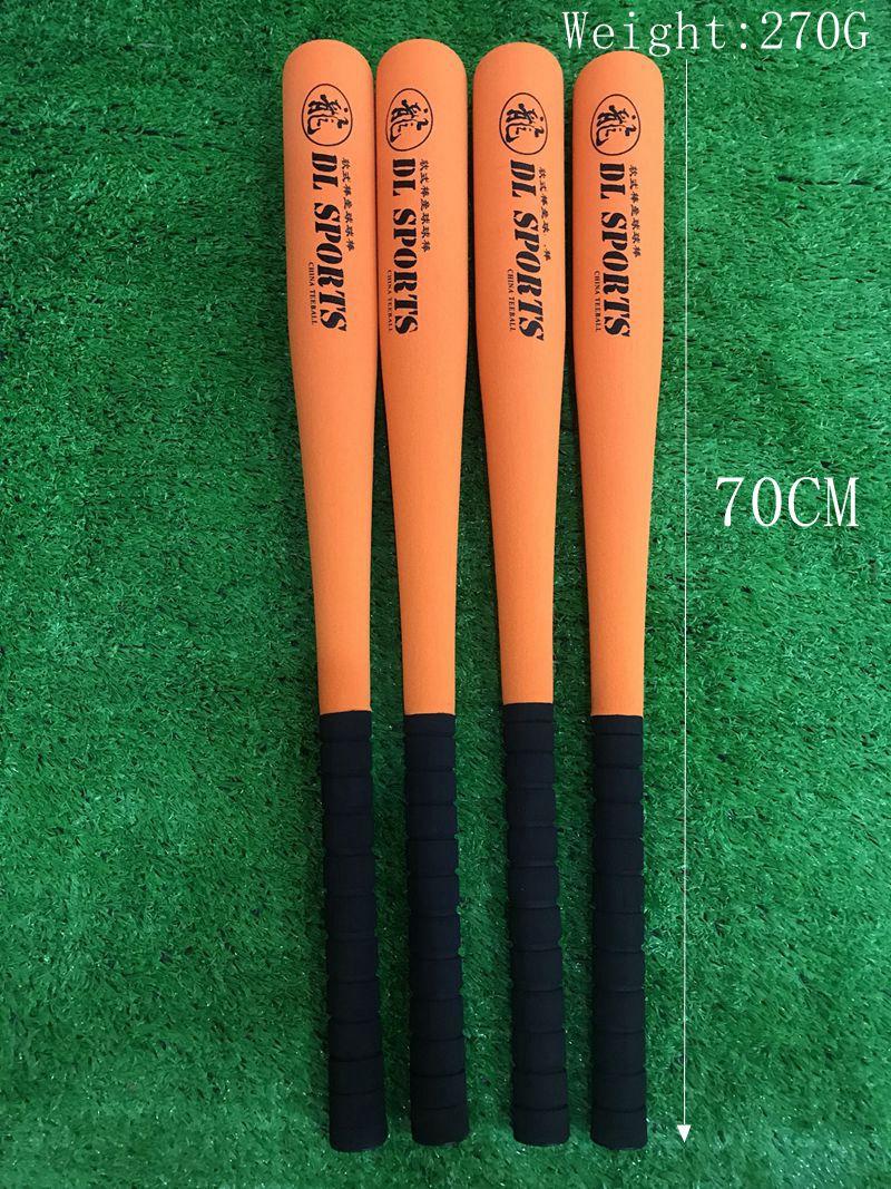 ¡De alta calidad! DL 70 CM niños Color naranja deportes bate de béisbol suave, envío gratis