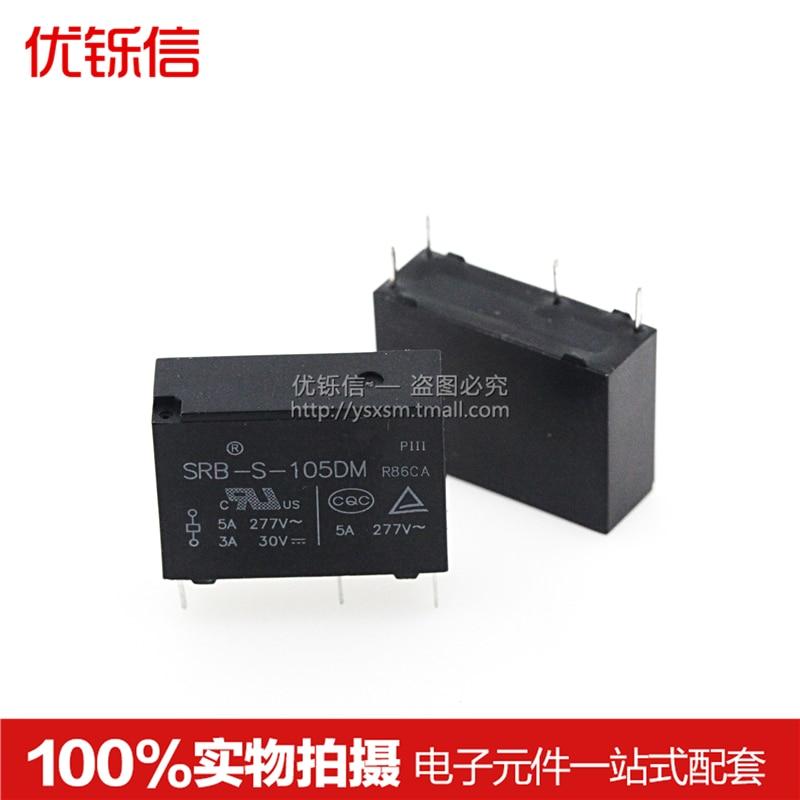 Relé de SRB-S-105DM 5VDC un grupo de 4 pies normalmente abiertos 5A277VAC para HF46F-5-HS1