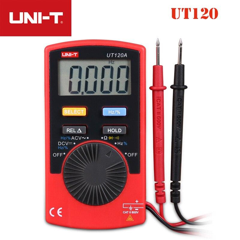 Фото UNI T UT120A UT120B UT120C пальмовые размеры Цифровые мультиметры 4000 Счетный дисплей