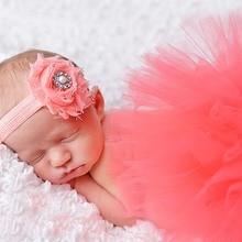 9 Styles bandeau et Tutu bébé jupe ensemble nouveau-né photographie accessoires jupe et correspondant fleur bandeau en Stock