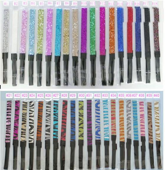 3/4 повязки с блестками для Девочки повязка для волос для Софтбола Популярные сверкающие повязки на голову 32 Цвета в наличии разные стили