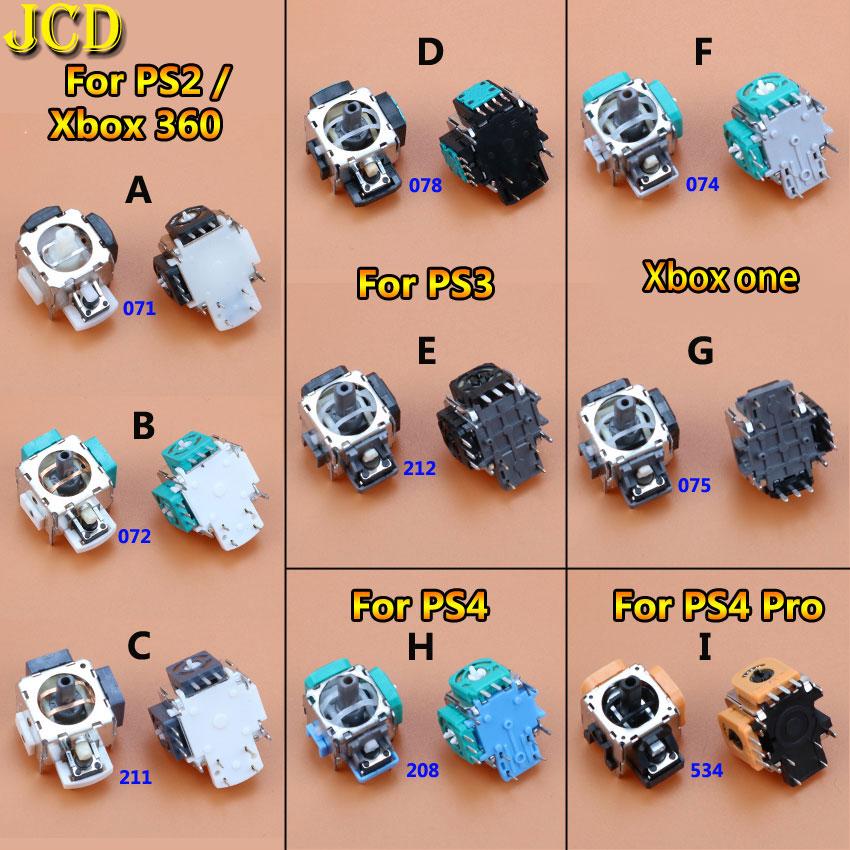 Jcd joystick analógico 3d 1 peça, módulo rocker 3 / 4 pinos para sony dualshock 4, ps2 ps3 ps4 controlador xboxone para xbox 360,