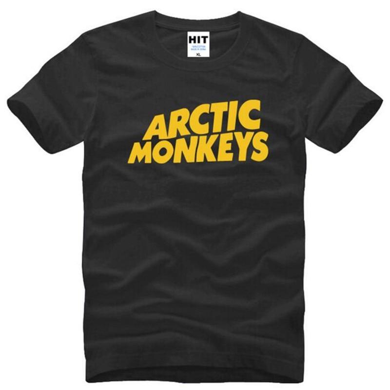 Rock Arctic Monkeys Letter Printed Mens Men T Shirt Tshirt Summer New Short Sleeve Cotton T-shirt Tee Camisetas Hombre