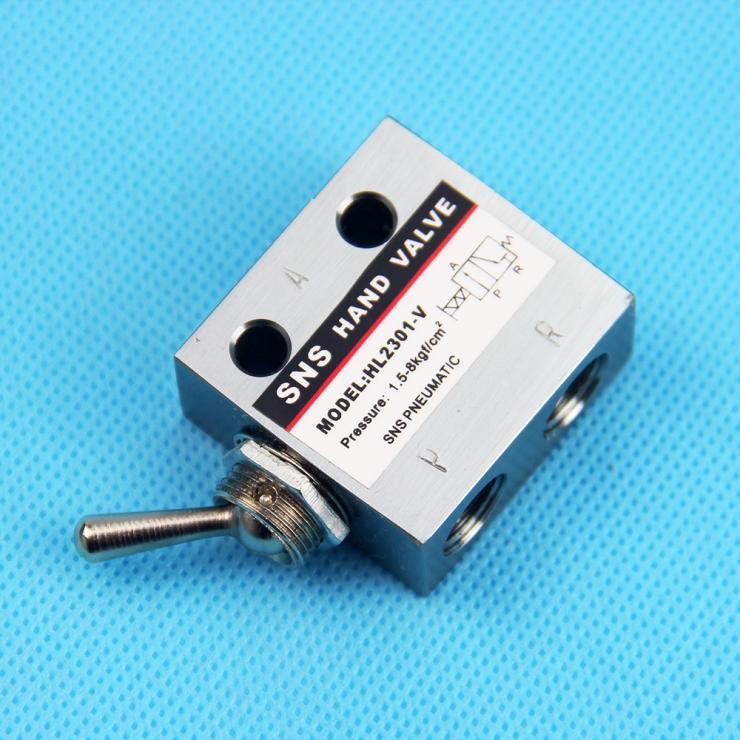"2 posiciones 3 puertos 1/8 ""PT interruptor de palanca neumático HL2301-V de válvula mecánica"