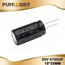 2 PIÈCES De Haute qualité 50V4700UF 18*35mm 4700UF 50V 18*35 condensateur Électrolytique