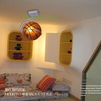 Bedroom Light Fixtures Creative Cartoon Children Ceiling Light Kids Bedroom Cartoon Lights Bedroom Ceiling Lamps basketball Lamp