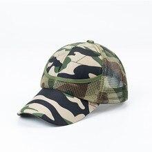 New Summer Kids Mesh Cap Boys Girls Camouflage Baseball Caps Casual Hip Hop Cap Children Fashion Hip hop Cat Sun Cool Hat