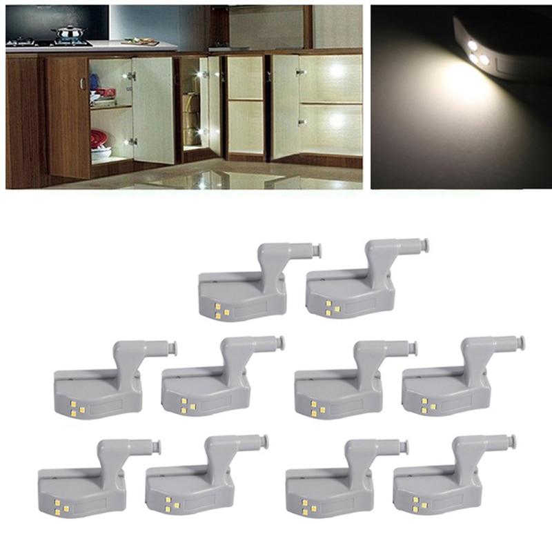 Myhomera 24pcs 10pcs 4pcs LED Cabinet Light Hinge Lights Wardrobe Sensor Touch Night Kitchen Lamp Under Inner Cupboard Lighting
