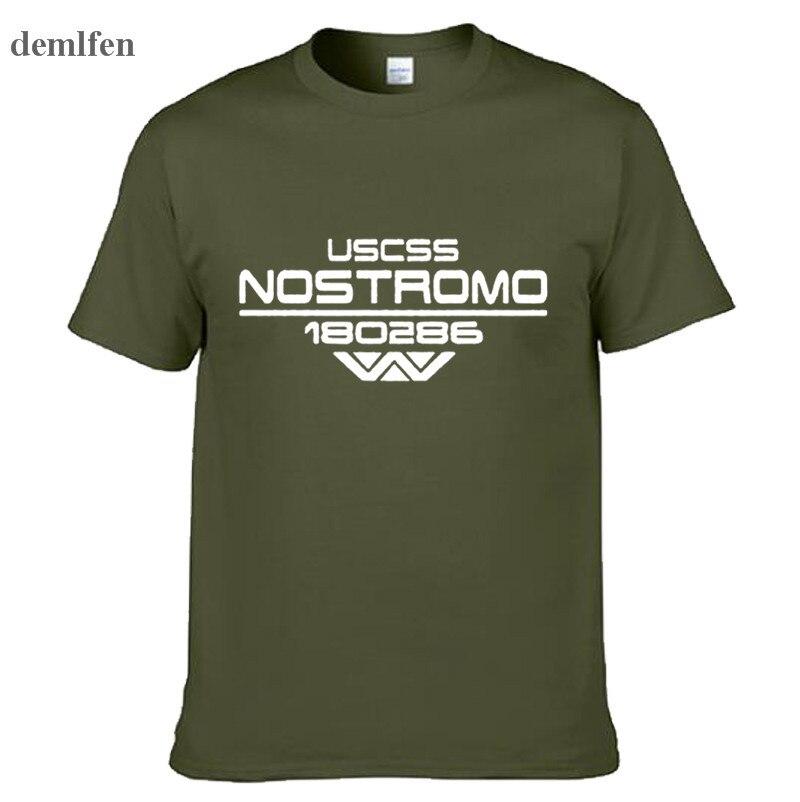 Мужская футболка nostomo Alien Aliens Scifi, хлопковая футболка на лето