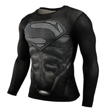 Nieuwe 2019 Superman Punisher Rashgard Running Shirt Mannen T-shirt Lange Mouw Compressie Shirts Gym T-shirt Fitness Sport Shirt Mannen