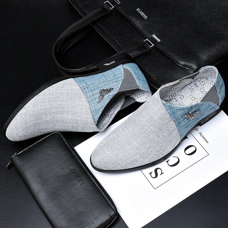 Hombres zapatos casuales zapatos de Oxford para hombres zapatos de primavera y verano de piel mocasines planos para hombre marca de moda zapatos de hombre H175