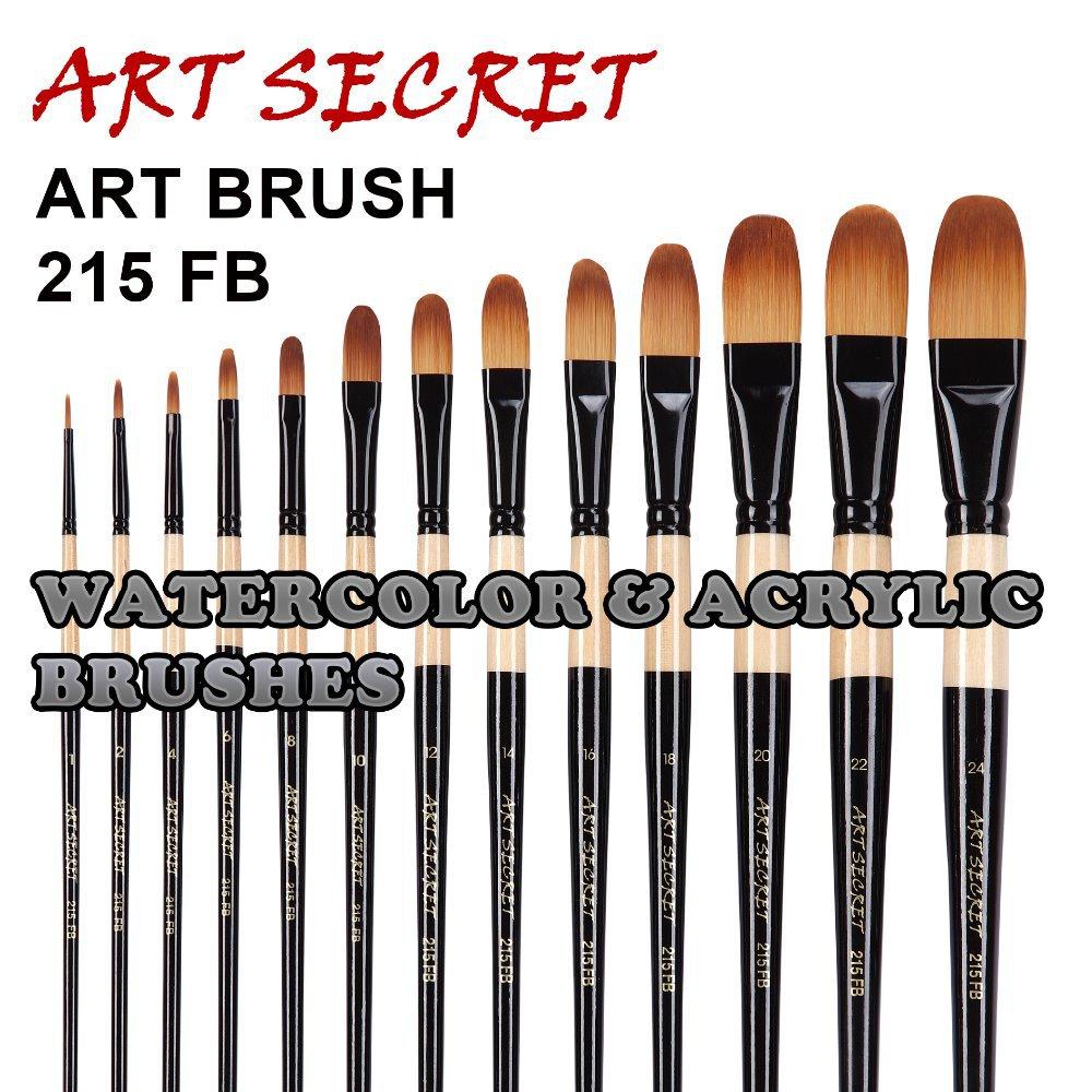 215FB Высокое качество Корея taklon волосы деревянная ручка художественная краска кисти художественная Живопись Кисть для рисования акрилом и маслом