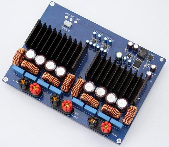 Placa amplificadora Digital 1200w TAS5630 + OPA1632DR 2,0 canal Clase D 330 UF/100 V * 4