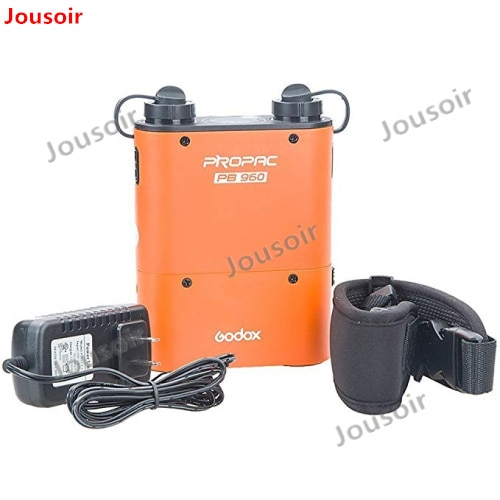 Godox PB960 Dual-salida Speedlite potencia de flash Paquete de batería 4500mAh para C N S GODOX YONGNUO (negro o naranja) CD50 A04