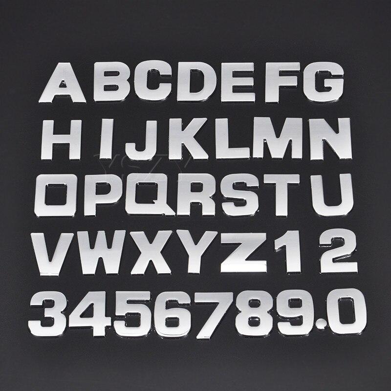 3D DIY 25mm Car Stickers for BMW Audi Honda Volkswagen  Mercedes Skoda Ford Peugeot Toyota Opel Mazda Seat Volvo Subaru Sticker