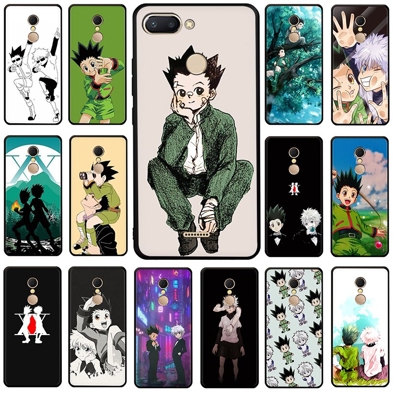 Hunter x hunter anime silicone caso de telefone para xiaomi redmi 5a 6a 5 plus 6 pro 7 ir nota 4x5 6 7 8 pro