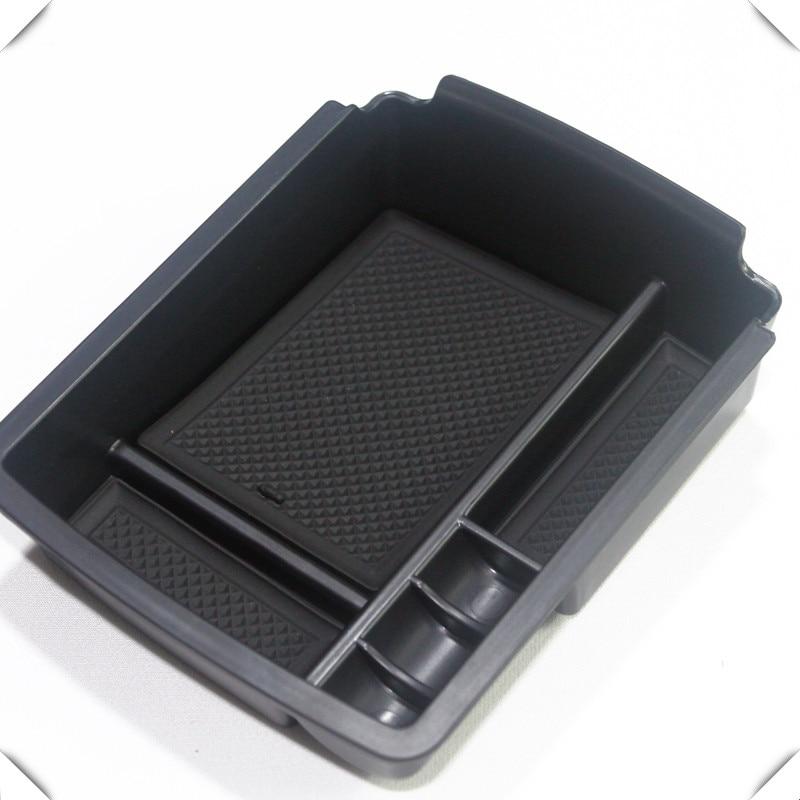 For VW 13-17 Golf 7 / 17-18 Golf Sportsvan Left hand drive Black Central Armrest Storage Glove Box Holder Tray