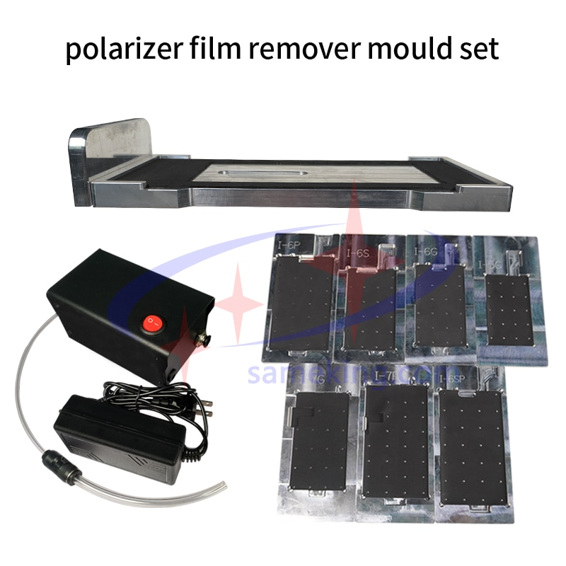 remover mould set for iphone 5/5s/5c/6G/6p/6s/6sp/7/7p/8/8p cellphone lcd screen polarizer film removing factory directly supply