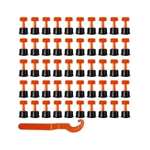 Горячая многоразовая система выравнивания плитки 100 шт. Стрекоза настенная напольная плитка разделители с 2 шт. гаечный ключ укладка плитки ...