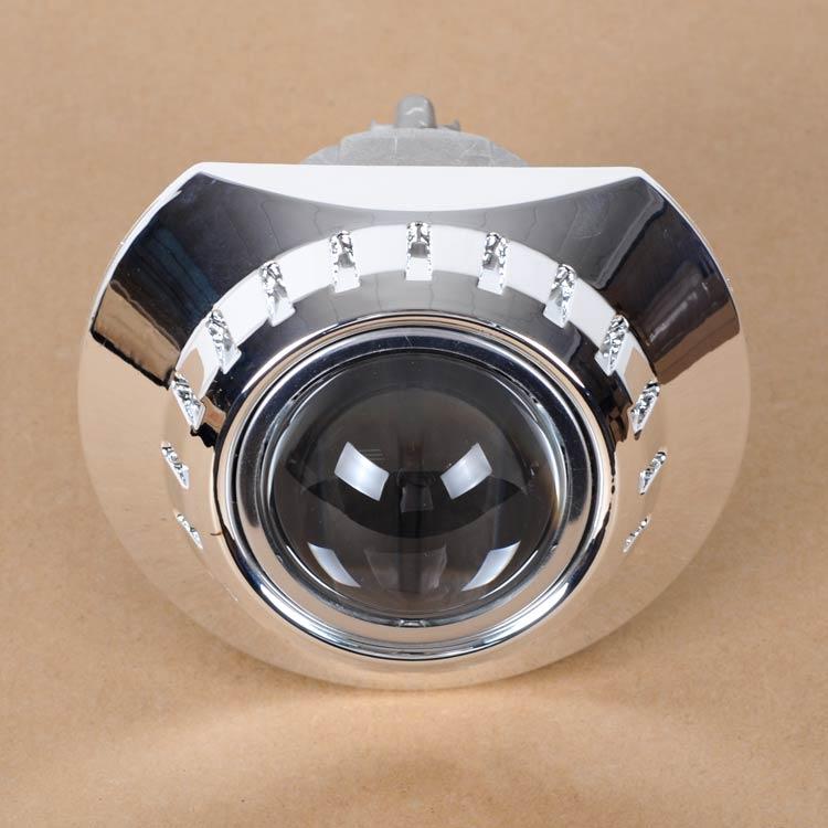 Aes 3.0 인치 zkw 슈라우드 커버 마스크 크롬 프리미엄 3 인치 hid/bi-led 프로젝터 렌즈 개조 q5 hella 5 자동차 헤드 라이트