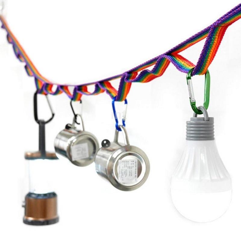 1pc 9.8 Polegada colorido tenda pendurar cordão tenda corda corda cabo universal para acampamento ao ar livre caminhadas esportes bens