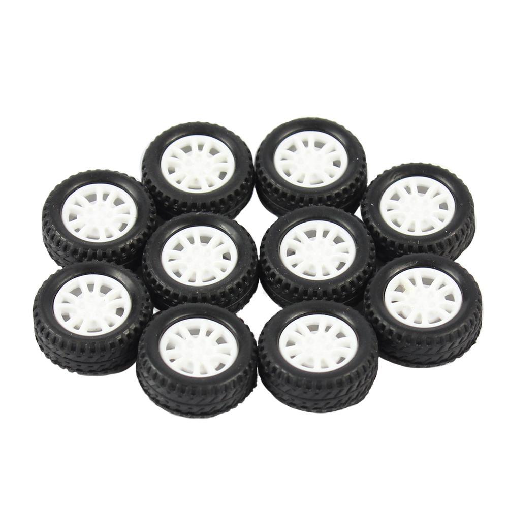 10 Uds 20*8*1,9mm neumático de goma hueco rueda de coche modelo ruedas DIY juguete accesorio para coche F17678