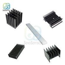 Silber Kühlkörper LED Kühlkörper Extrudierten Aluminium Kühlung Fin IC Chip Kühler Kühler