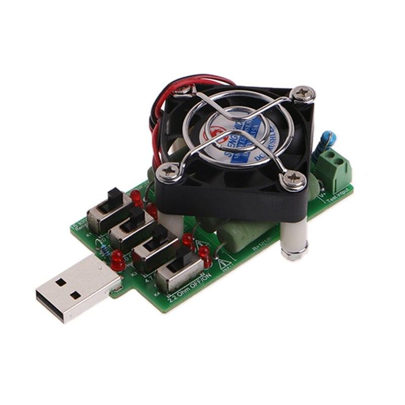 Adjustable 15 Current USB Load Resistor Discharge Resistance Capacity Tester W312