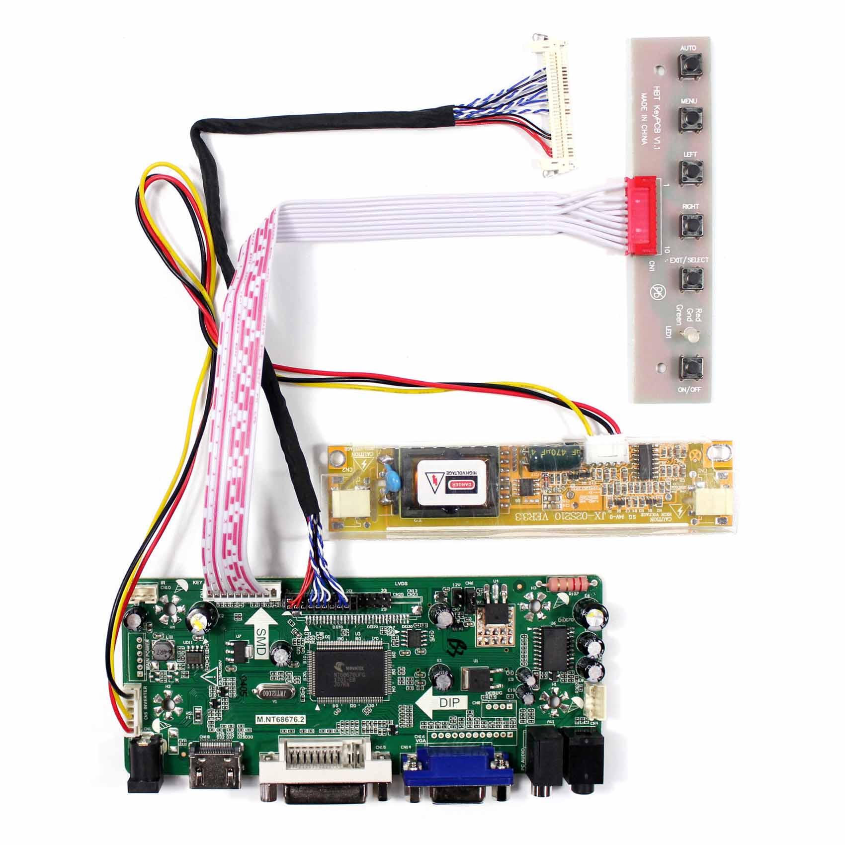 HDMI VGA DVI Placa de controlador de audio LCD de 18,5 pulgadas 1366x768 M185XW01 V0 M185XW01 V2 M185XW01 V4 etc. 2CCFL 30pin LCD panel