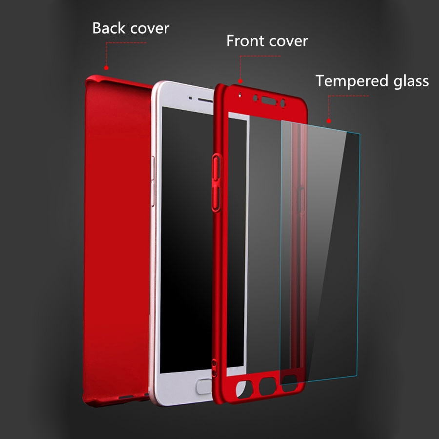 Hybrid Phone Case Cover For VIVO NEX S X21 X21i Case VIVO Y83 Y85 Y79 Y69 Y67 Y75 X9 X9S Plus 360 Full Cover Case Tempered Glass