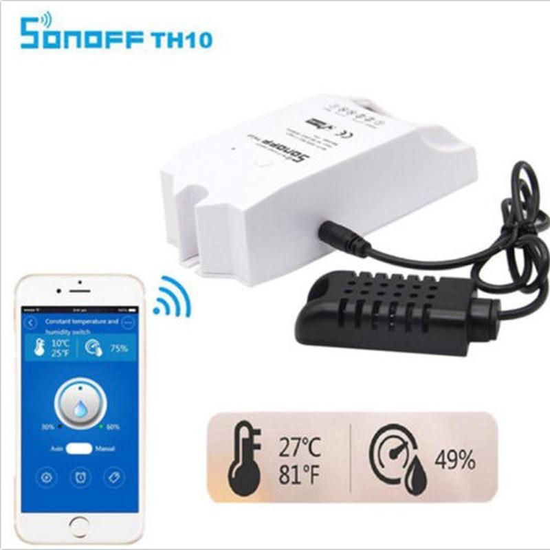 Sonoff ה 10A/16A חכם Wifi מתג בקר עם טמפרטורת חיישן עמיד למים לחות בית אוטומציה עם Alexa
