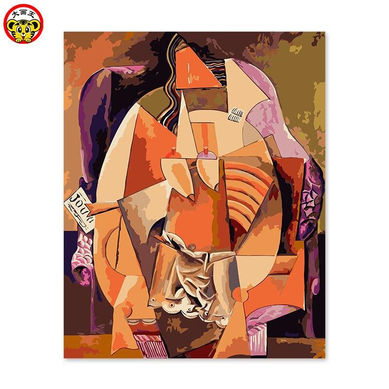 Картина по номерам художественная краска по номерам DIY Украшение гостиная спальня диван фоновая живопись Пикассо абстрактная женщина